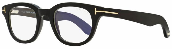 Tom Ford Rectangular Eyeglasses TF5558B 001 Black/Gold 46mm FT5558