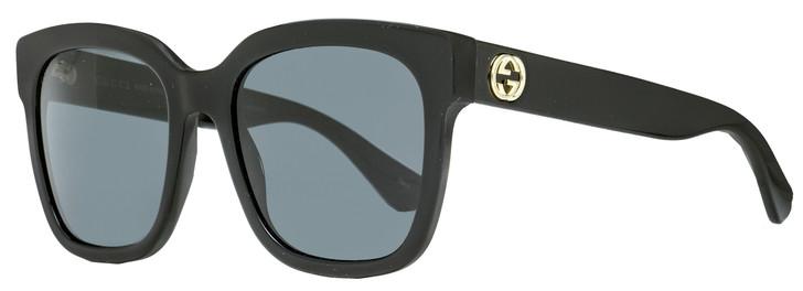 Gucci Square Sunglasses GG0034S 001 Black 54mm 34