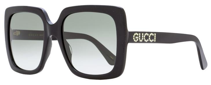 Gucci Crystal Logo Sunglasses GG0418S 001 Black 54mm 418