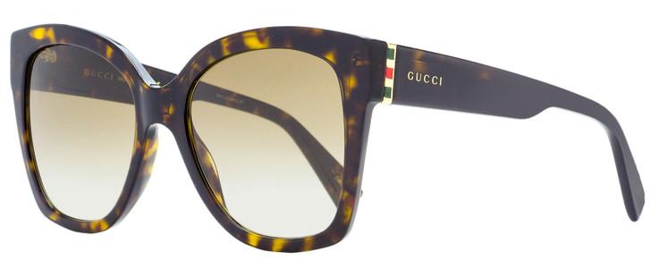 Gucci Square Sunglasses GG0459S 002 Havana 54mm 459