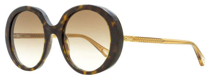 Chloe Esther Oval Sunglasses CH0007S 004 Havana/Brown 54mm 7