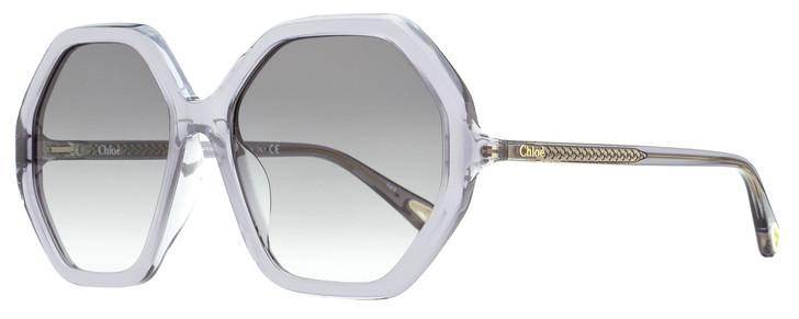Chloe Esther Sunglasses CH0008SA 003 Transparent Gray 58mm 8