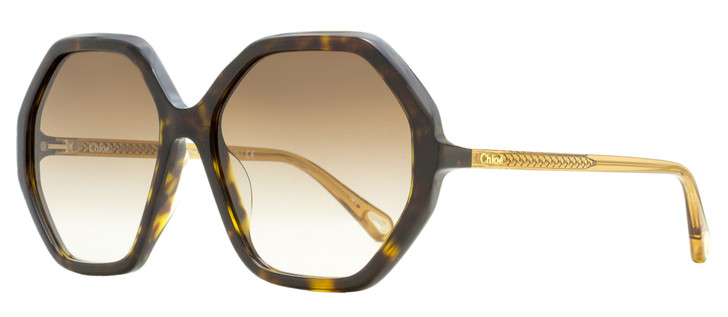Chloe Esther Sunglasses CH0008SA 004 Havana/Brown 58mm 8