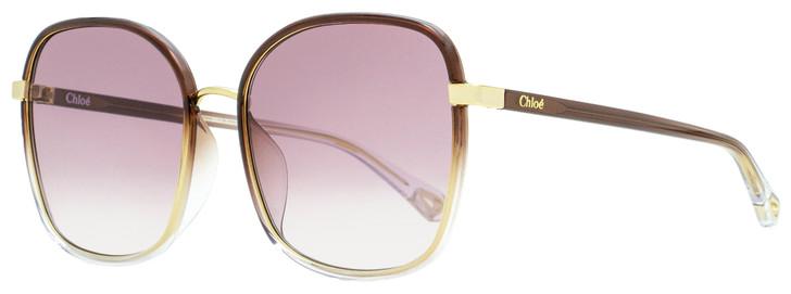 Chloe Franky Sunglasses CH0031SA 004 Gold/Brown/Transparent 59mm 31