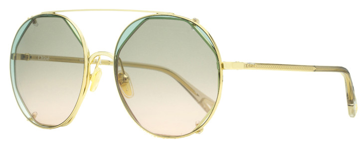 Chloe Clip-on Sunglasses CH0041S 001 Gold/Clear 57mm 41