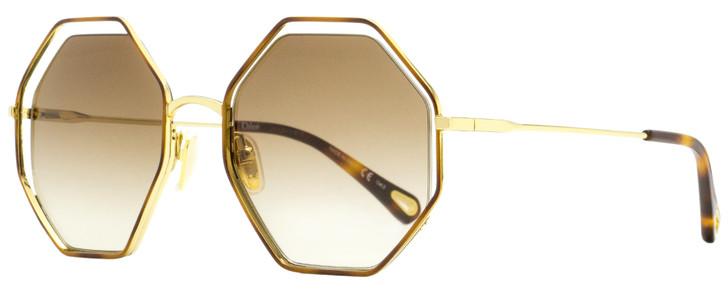 Chloe Poppy Sunglasses CH0046S 004 Gold/Havana 53mm 46