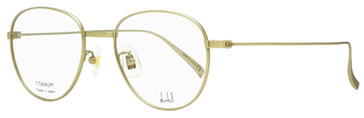 Dunhill Oval Eyeglasses DU0007O 004 Matte Antique Gold  49mm 7