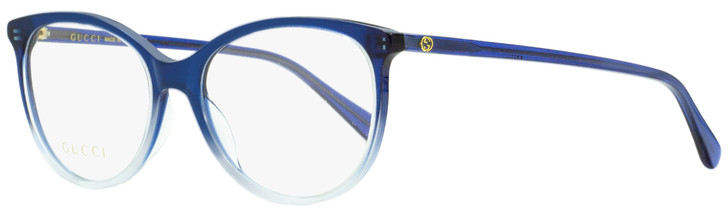 Gucci Oval Eyeglasses GG0550O 004 Blue Gradient 51mm 550