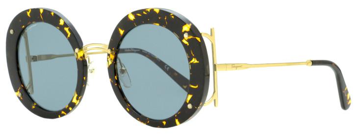 Salvatore Ferragamo Round Sunglasses SF939S 206 Vintage Havana/Gold 52mm 939