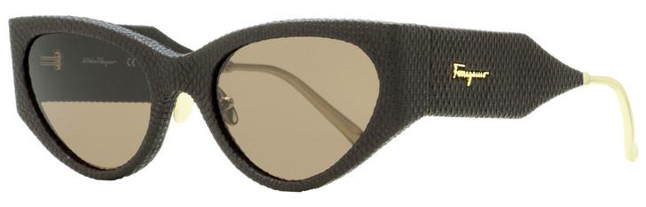 Salvatore Ferragamo Runway Sunglasses SF950SL 208 Dark Brown 54mm 950