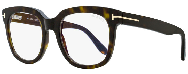Tom Ford Square Eyeglasses TF5537B 052 Dark Havana 52mm FT5537
