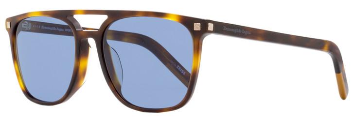 Ermenegildo Zegna Square Sunglasses EZ0124F 52V Havana 56mm 124