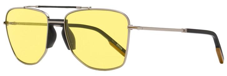 Ermenegildo Zegna Rectangular Sunglasses EZ0130 12E Dark Ruthenium/Black 58mm 130
