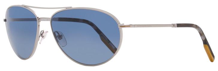 Ermenegildo Zegna Aviator Sunglasses EZ0139 14D Ruthenium/Gray Havana Polarized 62mm 139