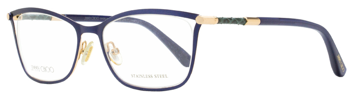 Jimmy Choo Rectangular Eyeglasses JC134 J6S Matte Blue 53mm 134