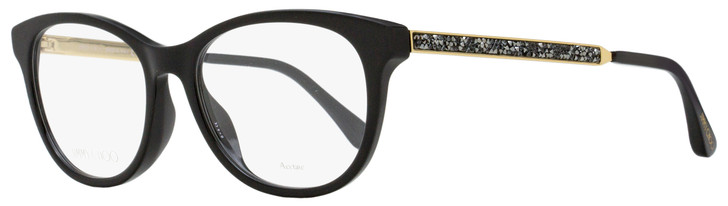 Jimmy Choo Oval Eyeglasses JC202 807 Black/Gold 52mm 202