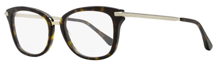 Jimmy Choo Rectangular Eyeglasses JC218 086 Dark Havana/Gold 52mm 218