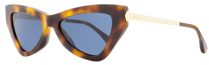 Jimmy Choo Cateye Sunglasses Donna/S 086KU Havana/Gold 54mm