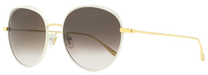 Jimmy Choo Oval Sunglasses Ello/S ONRJS White/Gold 56mm