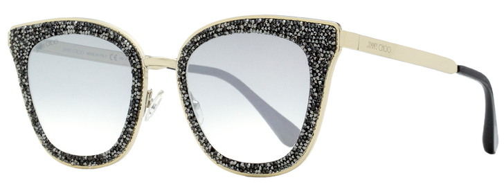 Jimmy Choo Square Sunglasses Lizzy/S FT3IC Light Gold/Black 63mm