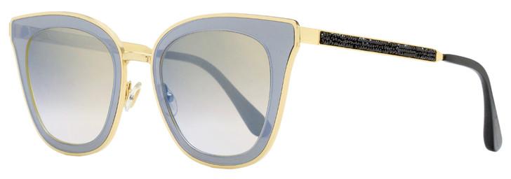 Jimmy Choo Square Sunglasses Lory/S 2M2FQ Gold/Black 49mm