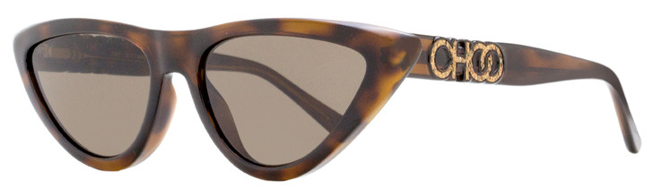 Jimmy Choo Cateye Sunglasses Sparks/G/S 08670 Dark Havana 55mm