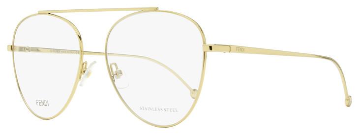 Fendi Aviator Eyeglasses FF0352 J5G Gold 56mm 352