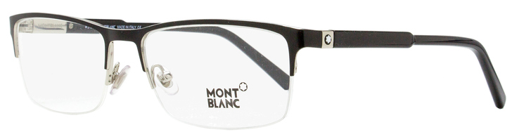 Montblanc Semi-Rimless Eyeglasses MB636 001 Black 56mm 636