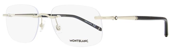 Montblanc Rimless Eyeglasses MB0071O 004 Silver/Black 58mm 071