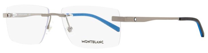 Montblanc Rimless Eyeglasses MB0105O 002 Ruthenium/Black/Blue 57mm 105