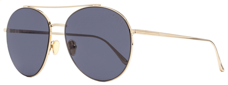 Tom Ford Round Sunglasses TF757 Cleo 28A Gold 59mm FT0757