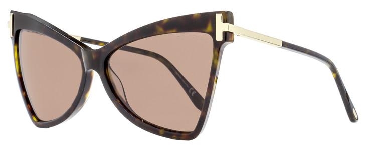 Tom Ford Cateye Sunglasses TF767 Tallulah 52E Gold/Dark Havana 61mm FT0767