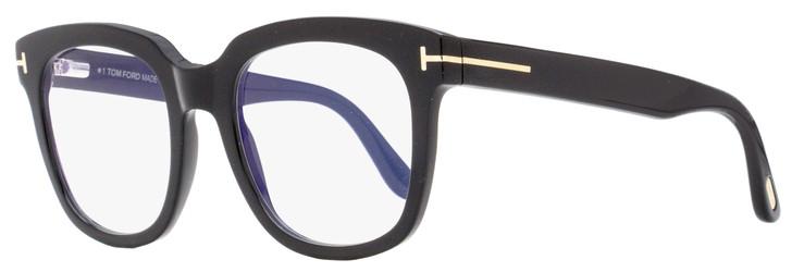 Tom Ford Blue Block Eyeglasses TF5537B 001 Black 52mm FT5537
