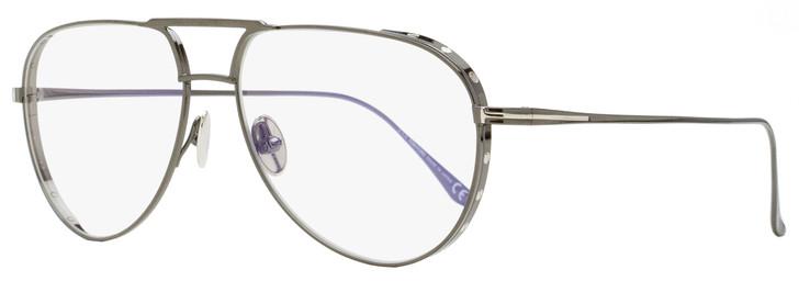Tom Ford Blue Block Eyeglasses TF5658B 008 Gunmetal 56mm FT5658