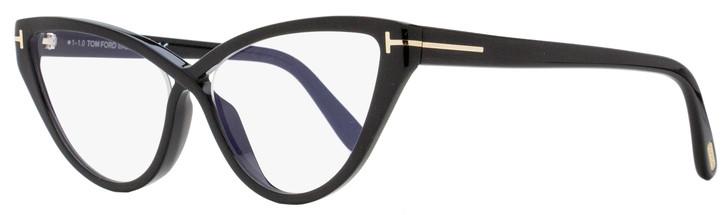 Tom Ford Blue Block Eyeglasses TF5729B 001 Black 56mm FT5729