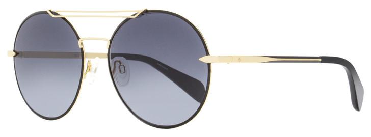 Rag & Bone Round Sunglasses RNB1011S RHL9O Black/Gold 59mm 1011