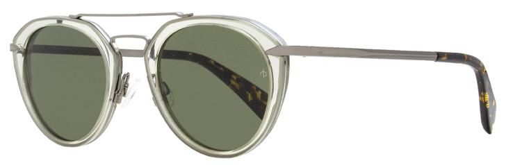 Rag & Bone Aviator Sunglasses RNB1017S KB7QT Gunmetal/Transp. Gray 49mm 1017