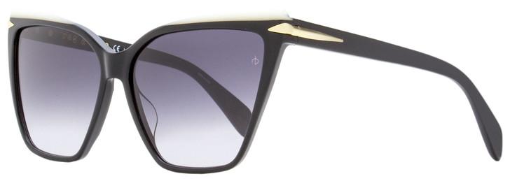 Rag & Bone Square Sunglasses RNB1027S 8079O Black/White 59mm 1027