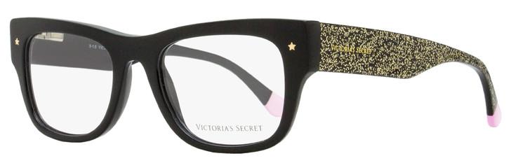 Victoria's Secret Rectangular Eyeglasses VS5014 01A Black/Gold Glitter 51mm 5014