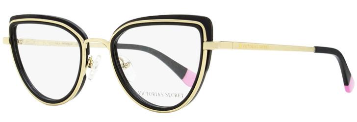 Victoria's Secret Cateye Eyeglasses VS5020 001 Black/Gold 51mm 5020