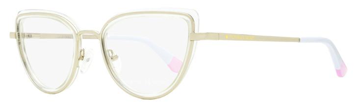 Victoria's Secret Cateye Eyeglasses VS5020 022 Clear/Gold/White 51mm 5020