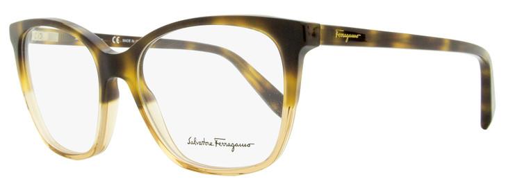 Salvatore Ferragamo Square Eyeglasses SF2817 245 Havana/Honey 52mm 2817