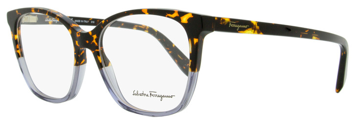 Salvatore Ferragamo Square Eyeglasses SF2817 259 Havana/Gray Shaded 52mm 2817