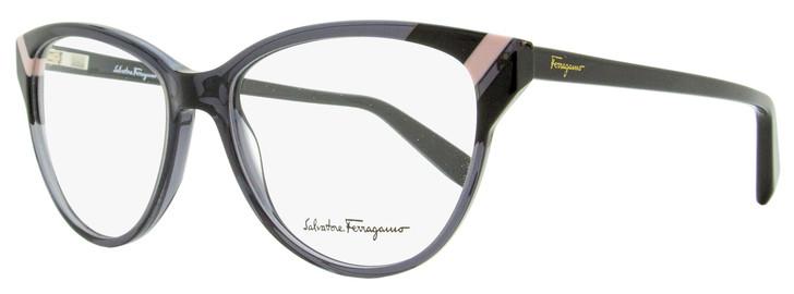 Salvatore Ferragamo Cateye Eyeglasses SF2844 057 Gray/Black 54mm 2844