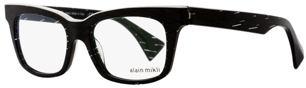 fd977ddc2e Alain Mikli Rectangular Eyeglasses A03021 C015 Size  50mm Black  Diamond White 3021