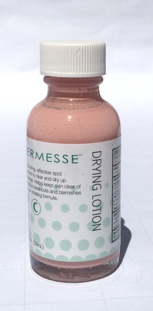An effective acne drying lotion for the treatment of acne  blemishes.   Proper use of this lotion will help reduce the size and severity of acne blemishes. PRODUCT BENEFITS: This formula contains 10% Sulfur which acts as a drying agent and 2% Salicylic Acid, to gently exfoliate debris that could block pores.  The product also contains camphor and zinc oxide to fight acne bacteria and infection.  When used in conjunction with the Dermesse Clarifying Cleanser and Clarifying Toner, results are optimized.