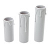 White Candle Tube Cover With Drip Effect 24 x 65mm [3037312]