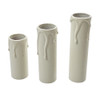 Ivory Candle Tube Cover With Drip Effect 24 x 85mm [3026357]