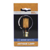 60w Crystalite Antique G80 Globe BC Clear Squirrel Cage Filament [3170661]