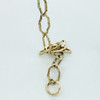Steel Brass Plated Decorative Gothic Chain [3264435]